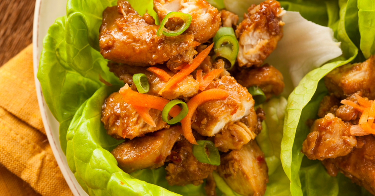 Chicken Lettuce Wrap, a healthier alternative to tortillas!